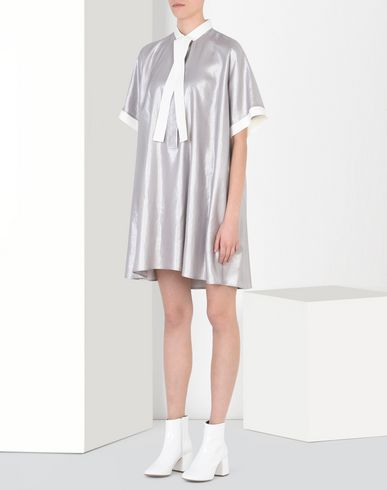 MM6 by MAISON MARGIELA ミニワンピース・ドレス D シルバー スカーフ ドレス f