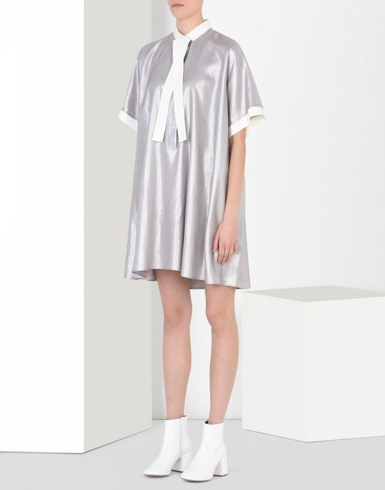 MM6 MAISON MARGIELA Silver scarf dress Short dress D f