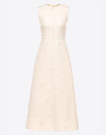 VALENTINO Embroidered Crepe Couture Dress 34699617AI