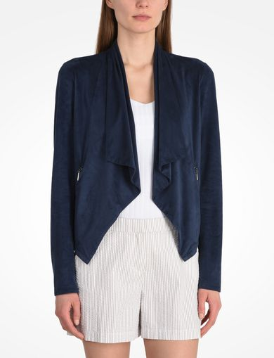 ARMANI EXCHANGE FAUX SUEDE FLUID BLAZER Woman front