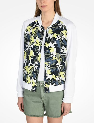 ARMANI EXCHANGE RAGLAN BOMBER JACKET Woman front