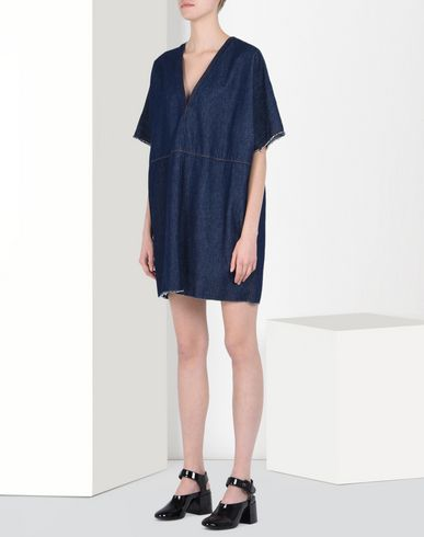 MM6 by MAISON MARGIELA Robe courte D Robe en denim brut lavé f