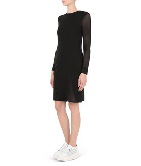 KARL LAGERFELD PUNTO & MESH DRESS