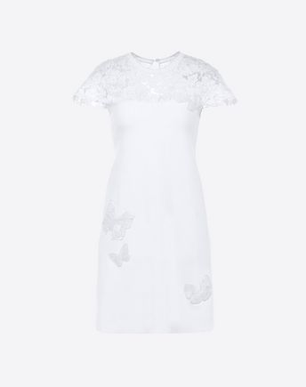 VALENTINO Embroidered Viscose Dress 34704945SS
