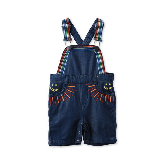 Rainbow Embroidered Sunbeam Overalls