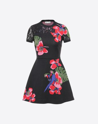 VALENTINO Embroidered Jacquard Viscose Dress 34705958CE