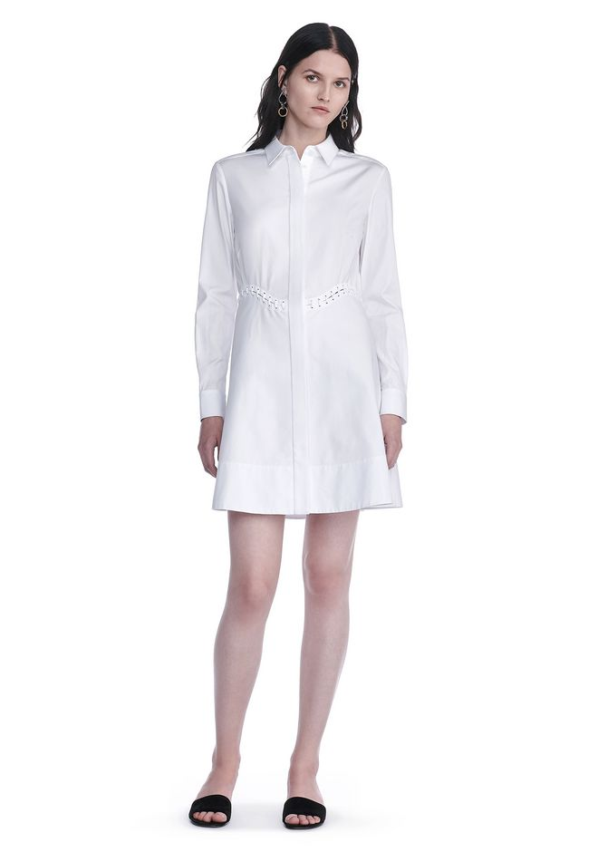 ALEXANDER WANG resort17-collection PEPLUM SHIRT DRESS