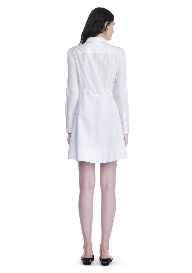 ALEXANDER WANG PEPLUM SHIRT DRESS  3/4 length dress Adult 12_n_r