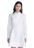 ALEXANDER WANG PEPLUM SHIRT DRESS  3/4 length dress Adult 8_n_e