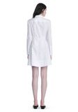 ALEXANDER WANG PEPLUM SHIRT DRESS  3/4 length dress Adult 8_n_r