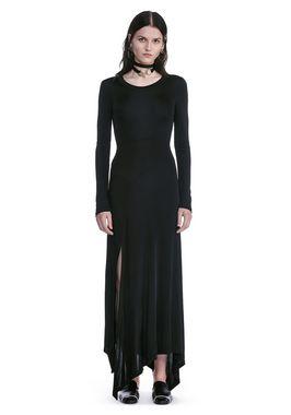 DECONSTRUCTED LONG SLEEVE T-SHIRT DRESS