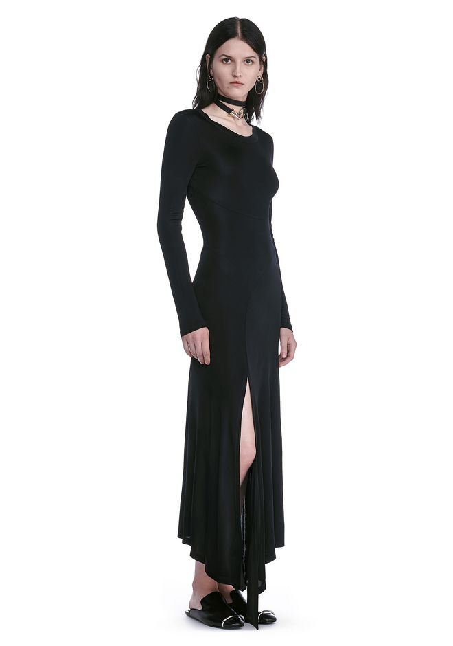 ALEXANDER WANG DECONSTRUCTED LONG SLEEVE T-SHIRT DRESS 3/4 length dress Adult 12_n_d