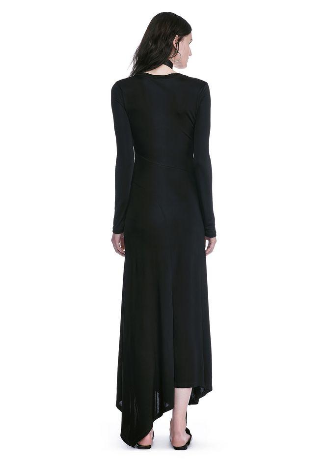 ALEXANDER WANG DECONSTRUCTED LONG SLEEVE T-SHIRT DRESS 3/4 length dress Adult 12_n_r