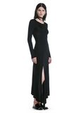 ALEXANDER WANG DECONSTRUCTED LONG SLEEVE T-SHIRT DRESS 3/4 length dress Adult 8_n_d