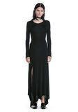 ALEXANDER WANG DECONSTRUCTED LONG SLEEVE T-SHIRT DRESS 3/4 length dress Adult 8_n_e