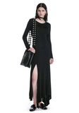 ALEXANDER WANG DECONSTRUCTED LONG SLEEVE T-SHIRT DRESS 3/4 length dress Adult 8_n_f