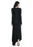 ALEXANDER WANG DECONSTRUCTED LONG SLEEVE T-SHIRT DRESS 3/4 length dress Adult 8_n_r