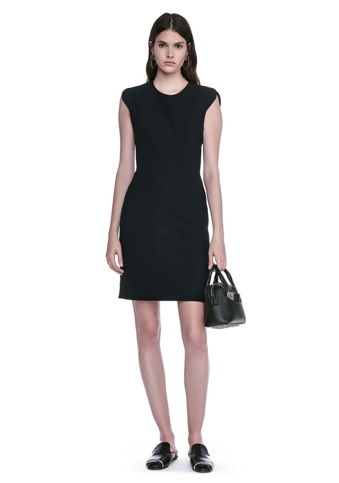 ALEXANDER WANG 3/4 Length dresses Women FITTED PENCIL DRESS WITH CAP SLEEVE  AND CONTOURED SEAMS