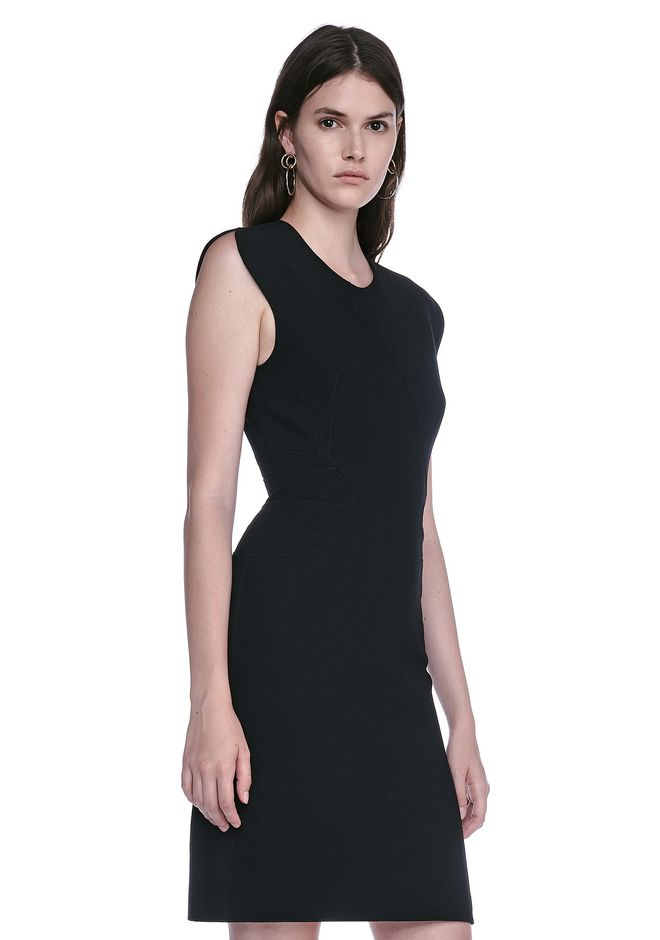 ALEXANDER WANG FITTED PENCIL DRESS WITH CAP SLEEVE  AND CONTOURED SEAMS 3/4 length dress Adult 12_n_a