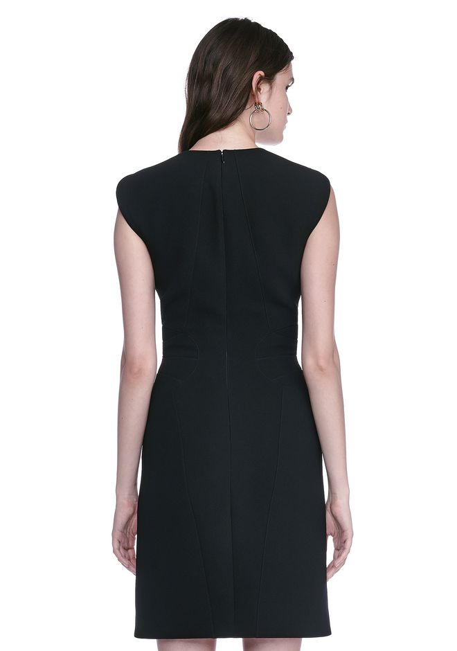 ALEXANDER WANG FITTED PENCIL DRESS WITH CAP SLEEVE  AND CONTOURED SEAMS 3/4 length dress Adult 12_n_d