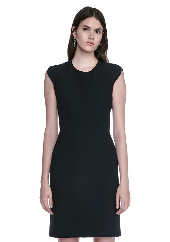 ALEXANDER WANG FITTED PENCIL DRESS WITH CAP SLEEVE  AND CONTOURED SEAMS 3/4 length dress Adult 12_n_e