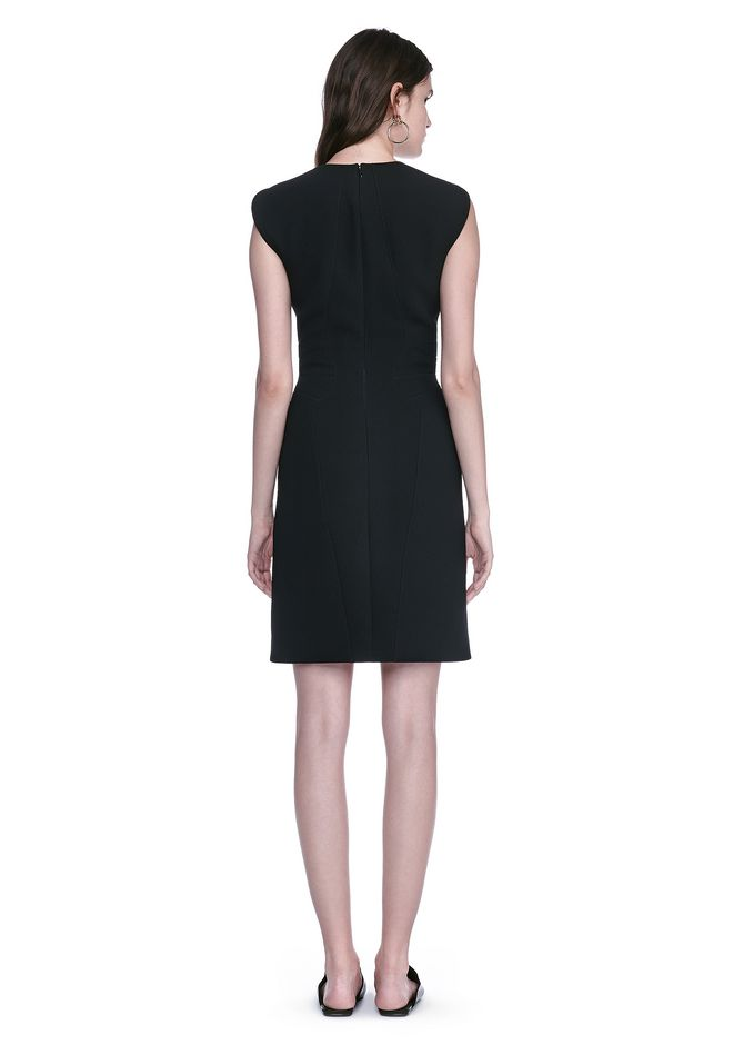 ALEXANDER WANG FITTED PENCIL DRESS WITH CAP SLEEVE  AND CONTOURED SEAMS 3/4 length dress Adult 12_n_r