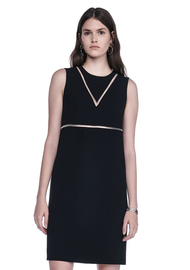 ALEXANDER WANG FISH LINE STRAIGHT CUT DRESS  Short Dress Adult 12_n_e