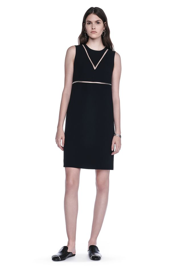 ALEXANDER WANG FISH LINE STRAIGHT CUT DRESS  Short Dress Adult 12_n_f
