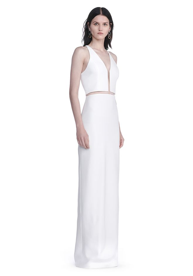 ALEXANDER WANG resort17-collection V-NECK FISHLINE GOWN