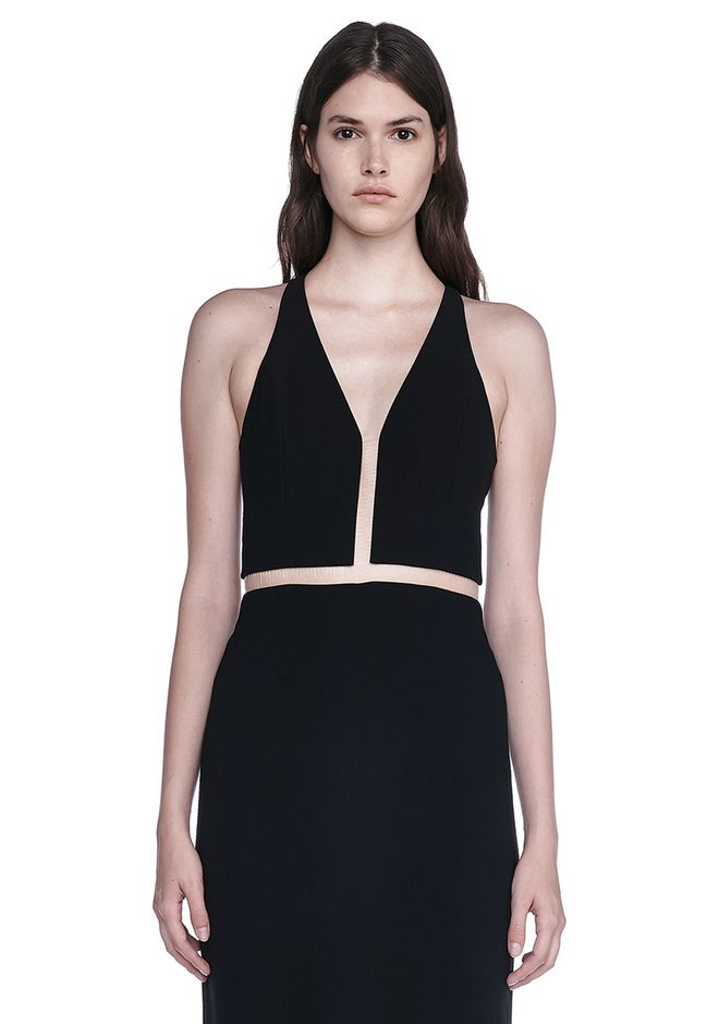 ALEXANDER WANG V-NECK FISHLINE GOWN 长款连衣裙 Adult 12_n_a