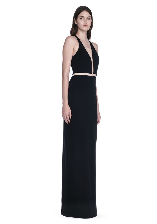 ALEXANDER WANG V-NECK FISHLINE GOWN 长款连衣裙 Adult 12_n_d
