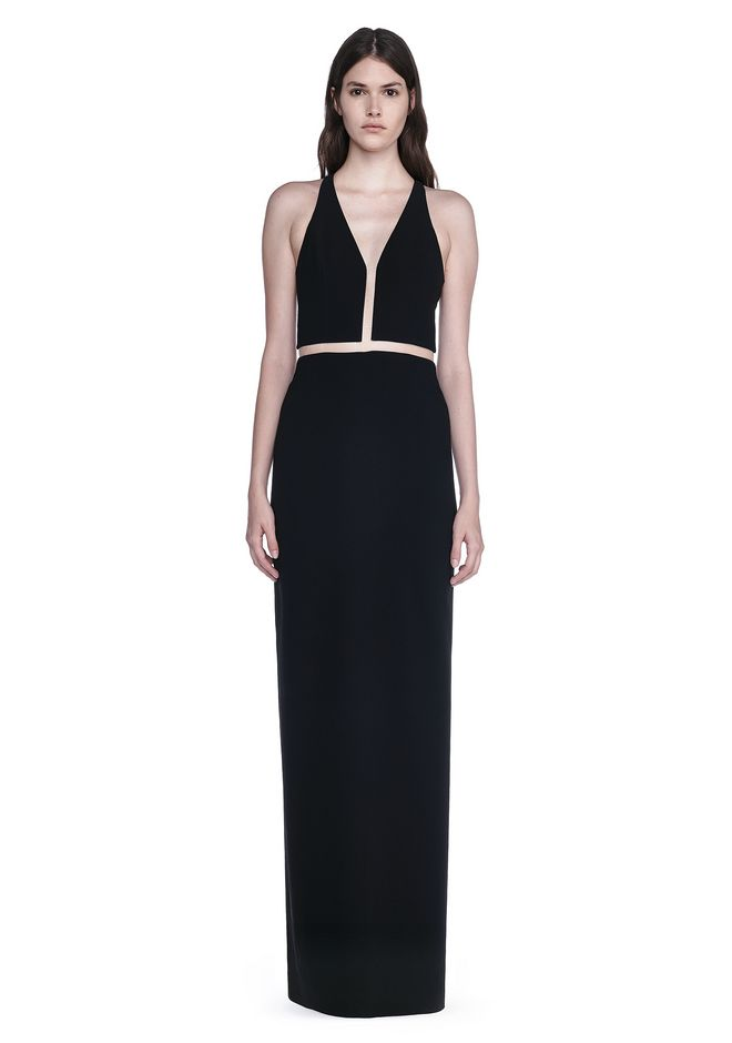 ALEXANDER WANG V-NECK FISHLINE GOWN 长款连衣裙 Adult 12_n_e