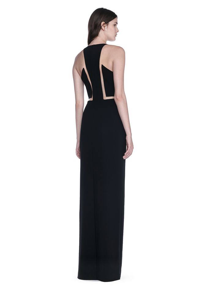 ALEXANDER WANG V-NECK FISHLINE GOWN 长款连衣裙 Adult 12_n_f
