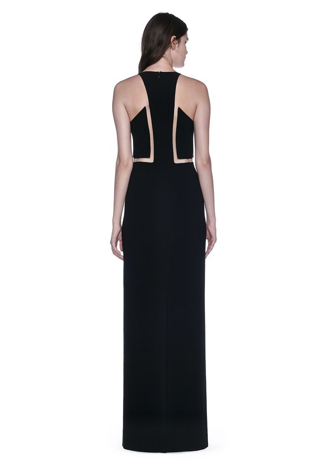 ALEXANDER WANG V-NECK FISHLINE GOWN 长款连衣裙 Adult 12_n_r