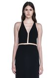 ALEXANDER WANG V-NECK FISHLINE GOWN 长款连衣裙 Adult 8_n_a
