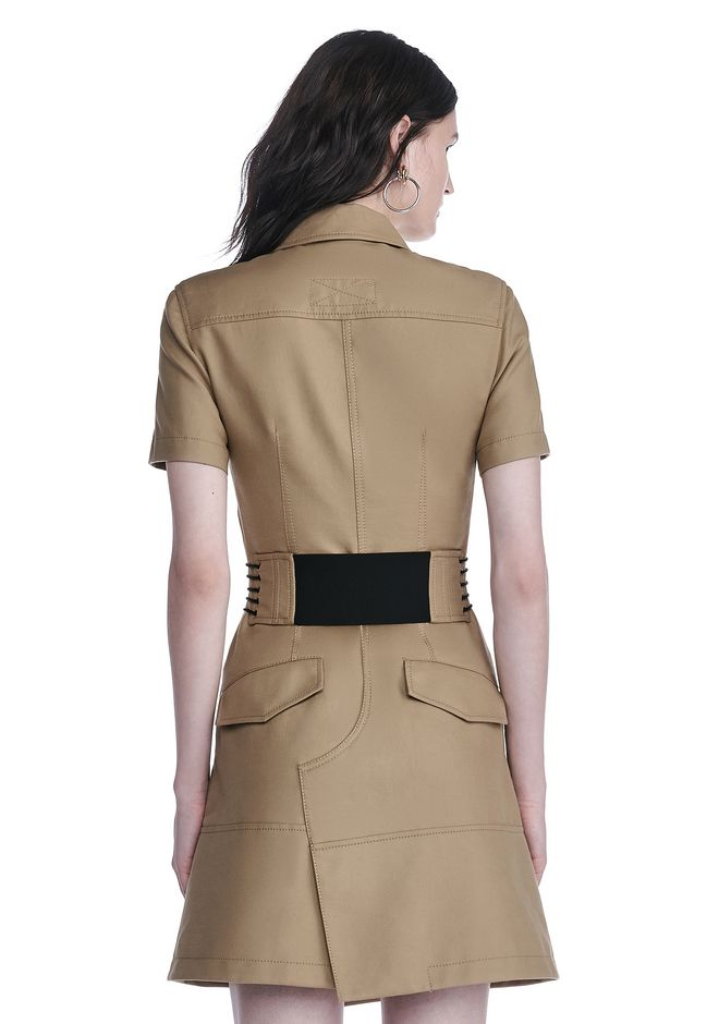 ALEXANDER WANG SHORT SLEEVE SAFARI DRESS Short Dress Adult 12_n_d