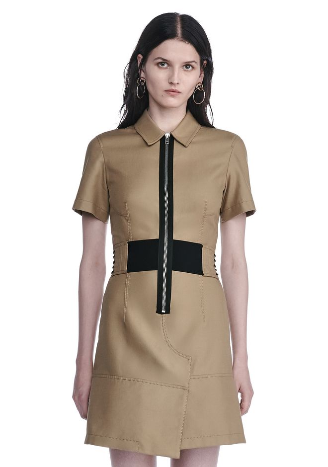 ALEXANDER WANG SHORT SLEEVE SAFARI DRESS Short Dress Adult 12_n_e