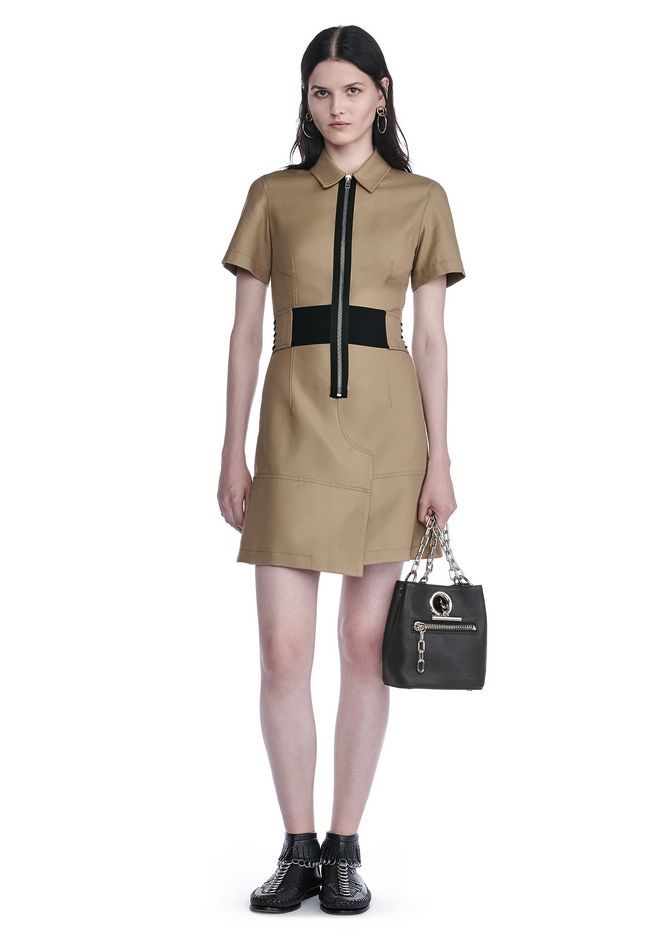 ALEXANDER WANG SHORT SLEEVE SAFARI DRESS Short Dress Adult 12_n_f