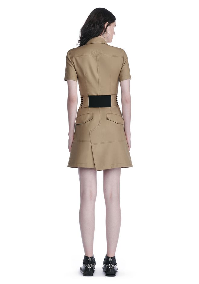 ALEXANDER WANG SHORT SLEEVE SAFARI DRESS Short Dress Adult 12_n_r