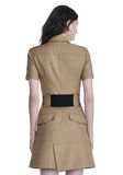 ALEXANDER WANG SHORT SLEEVE SAFARI DRESS Short Dress Adult 8_n_d