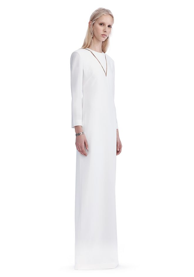 ALEXANDER WANG exclusives EXCLUSIVE LONG SLEEVE FISH LINE GOWN