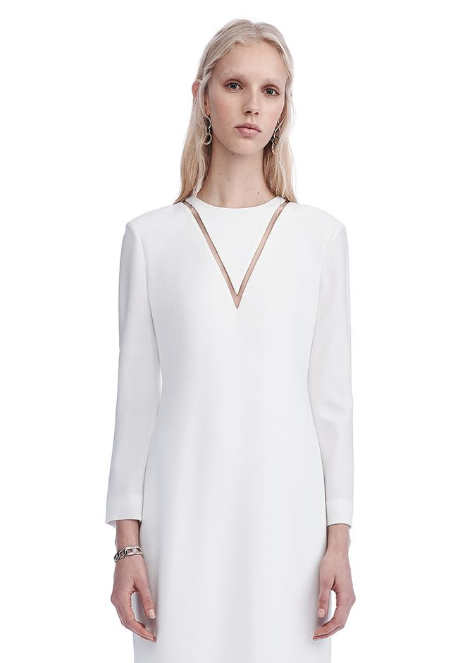 ALEXANDER WANG EXCLUSIVE LONG SLEEVE FISH LINE GOWN  Long dress Adult 12_n_a