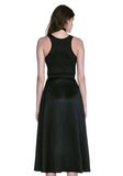 ALEXANDER WANG MIDI DRESS WITH FLUID SKIRT AND BUSTIER DETAIL 3/4 length dress Adult 8_n_d