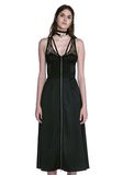 ALEXANDER WANG MIDI DRESS WITH FLUID SKIRT AND BUSTIER DETAIL 3/4 length dress Adult 8_n_e