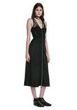 ALEXANDER WANG MIDI DRESS WITH FLUID SKIRT AND BUSTIER DETAIL 3/4 length dress Adult 8_n_f