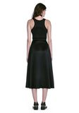 ALEXANDER WANG MIDI DRESS WITH FLUID SKIRT AND BUSTIER DETAIL 3/4 length dress Adult 8_n_r