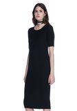 ALEXANDER WANG CREW NECK TEE DRESS WITH PIERCED SLEEVES 3/4 length dress Adult 8_n_a
