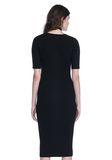 ALEXANDER WANG CREW NECK TEE DRESS WITH PIERCED SLEEVES 3/4 length dress Adult 8_n_d