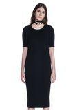 ALEXANDER WANG CREW NECK TEE DRESS WITH PIERCED SLEEVES 3/4 length dress Adult 8_n_e
