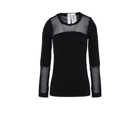 ADIDAS by STELLA McCARTNEY Running Topwear D Black Seamless Mesh Top f